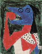Hungry Girl 1939 - Paul Klee reproduction oil painting