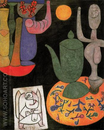 Untitled Still Life 1940 - Paul Klee reproduction oil painting
