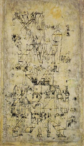Castle in the Air 1922 - Paul Klee reproduction oil painting