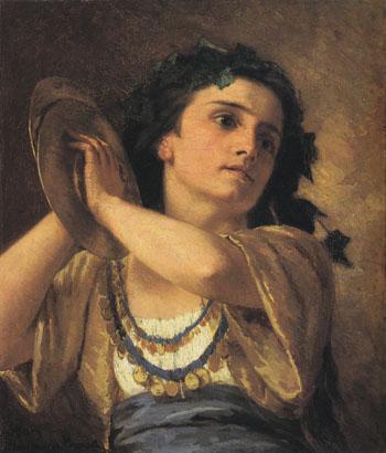 Bacchante 1872 - Mary Cassatt reproduction oil painting