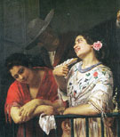 On the Balcony During the Carnival 1873 - Mary Cassatt reproduction oil painting