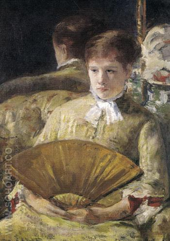 Portrait of a Lady 1877 - Mary Cassatt reproduction oil painting