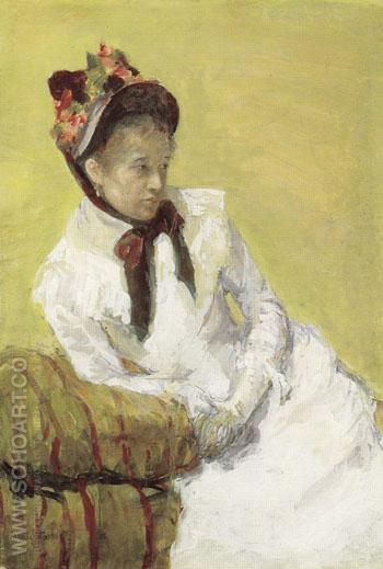 Portrait of the Artist 1878 - Mary Cassatt reproduction oil painting