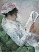 Woman Reading 1878 - Mary Cassatt reproduction oil painting