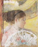 At the Theater 1878 - Mary Cassatt reproduction oil painting