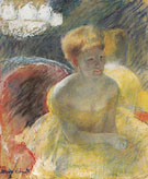 Lydia Leaning on her Arms Seated in a Loge c1879 - Mary Cassatt