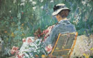 Lydia Seated in the Garden with a Dog in Her Lap c1880 - Mary Cassatt reproduction oil painting