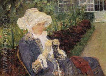 The Garden 1880 - Mary Cassatt reproduction oil painting