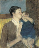 Young Mother 1888 - Mary Cassatt reproduction oil painting