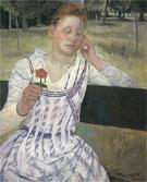 Revery 1891 - Mary Cassatt reproduction oil painting