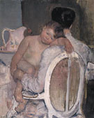 Mother Holding a Child in Her Arms c1890 - Mary Cassatt