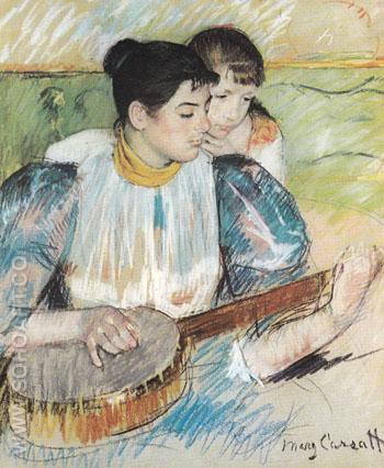 The Banjo Lesson 1894 - Mary Cassatt reproduction oil painting