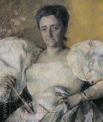 Louisine Havemeyer 1896 - Mary Cassatt reproduction oil painting