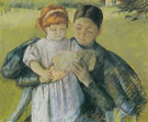 Nurse Reading to a Little Girl 1895 - Mary Cassatt reproduction oil painting