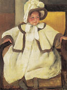 Ellen Mary in a White Coat c1896 - Mary Cassatt