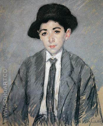 Portrait of Charles Dikran Kelekian Aged 12 1910 - Mary Cassatt reproduction oil painting