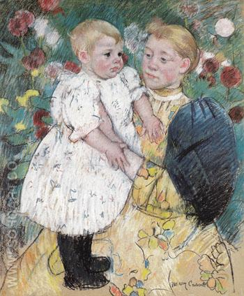 In the Garden 1893 - Mary Cassatt reproduction oil painting