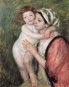 Mother and Child 1914 - Mary Cassatt reproduction oil painting