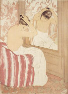Study 1890 - Mary Cassatt reproduction oil painting