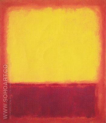 Yellow over Purple 1956 - Mark Rothko reproduction oil painting