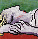 Asleep 1932 - Pablo Picasso reproduction oil painting