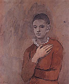 Boy with a Frilled Collar 1905 - Pablo Picasso reproduction oil painting