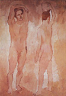 Adolescents 1906 - Pablo Picasso reproduction oil painting