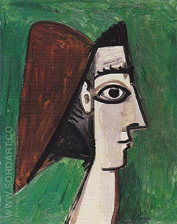 Profile of a Womans Face 1960 - Pablo Picasso reproduction oil painting