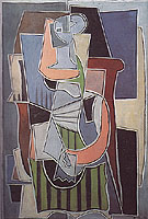 Woman Sitting on a Couch 1920 - Pablo Picasso reproduction oil painting