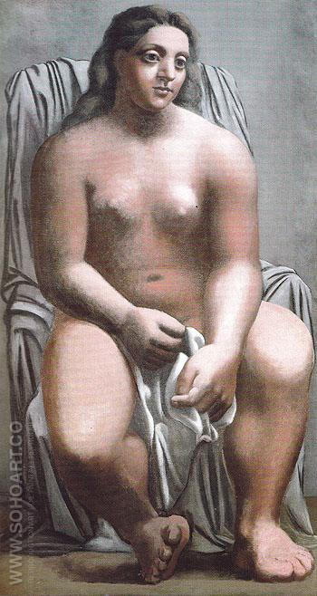 The Large Bather 1921 - Pablo Picasso reproduction oil painting