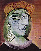 Woman with a Beret 1938 - Pablo Picasso reproduction oil painting