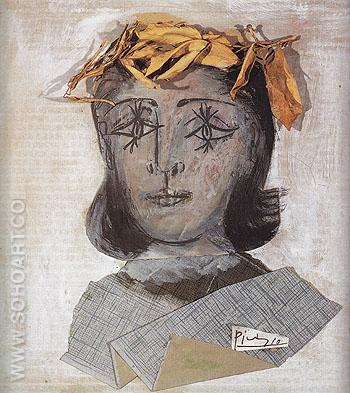 Portrait of Dora Maar 1941 - Pablo Picasso reproduction oil painting
