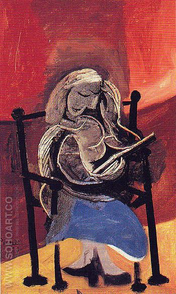 Woman Reading 1939 - Pablo Picasso reproduction oil painting