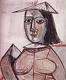 Woman with Dark Eyes 1941 - Pablo Picasso reproduction oil painting