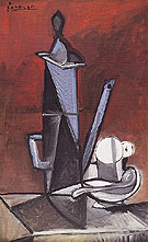 The Blue Coffee Pot 1944 - Pablo Picasso reproduction oil painting