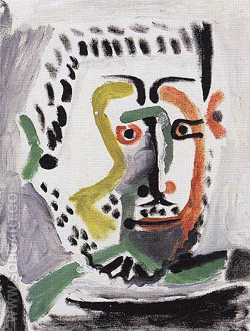 Mans Head c1965 - Pablo Picasso reproduction oil painting