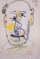 Head of a Bearded Man 1964 - Pablo Picasso reproduction oil painting