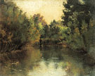 Secluded Pond 1881 - Gustav Klimt reproduction oil painting