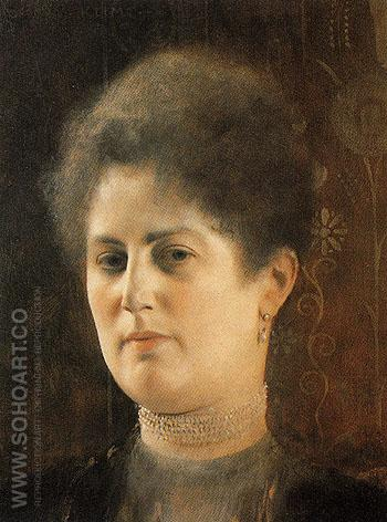 Portrait of Lady Frau Heymen 1894 - Gustav Klimt reproduction oil painting