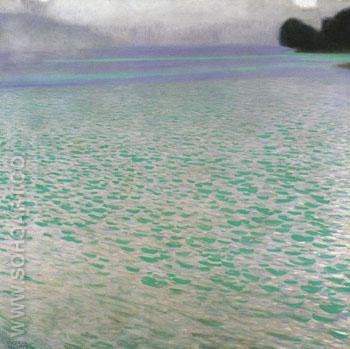 Attersee I 1900 - Gustav Klimt reproduction oil painting