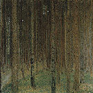 Pine Forest II 1901 - Gustav Klimt reproduction oil painting