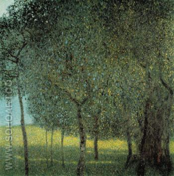 Fruit Trees by the Lake 1901 - Gustav Klimt reproduction oil painting