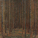 Pine Forest I 1901 - Gustav Klimt reproduction oil painting
