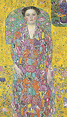 Portrait of Eugenia Primavesi c1913 - Gustav Klimt reproduction oil painting
