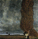Tall Poplars II Approaching Thunderstorm 1902 - Gustav Klimt reproduction oil painting
