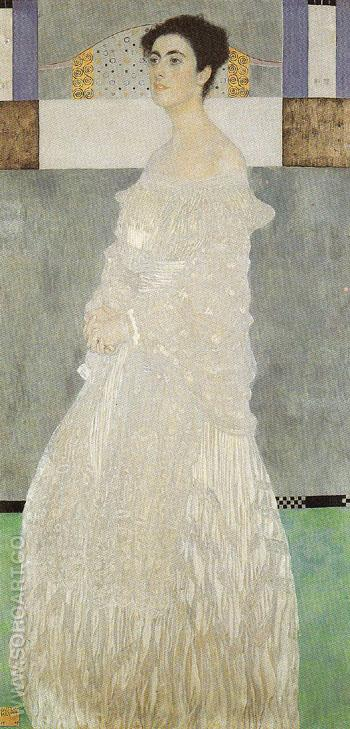 Portrait of Margaret Stonborough Wittgenstein 1905 - Gustav Klimt reproduction oil painting