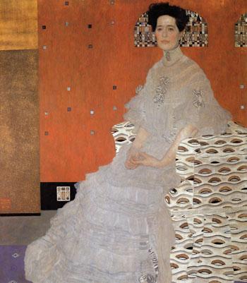 Portrait of Fritza Riedler 1906 - Gustav Klimt reproduction oil painting