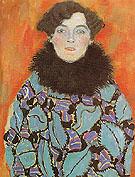 Portrait of Johanna Staude 1917 - Gustav Klimt reproduction oil painting