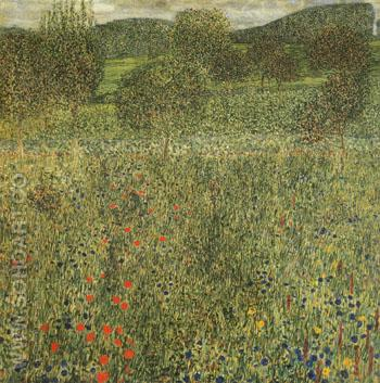 Garden Landscape 1907 - Gustav Klimt reproduction oil painting