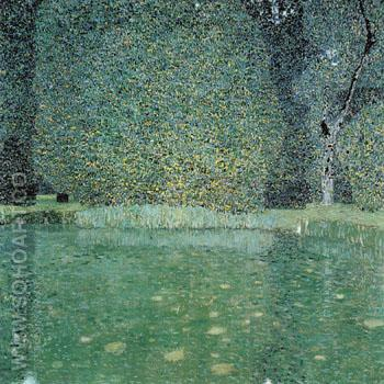 Pond at Schloss Kammer on the Attersee 1909 - Gustav Klimt reproduction oil painting